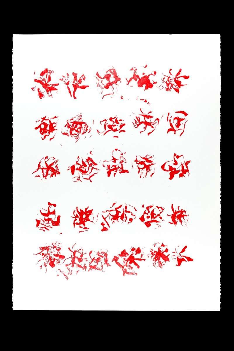 Papier. 56 x 76 cm 1